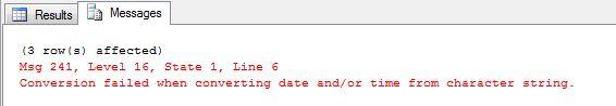 Hayat Kurtarmayan Bilgiler – 3 : SQL VARCHAR'dan DATETIME'a Çevrim Hatası