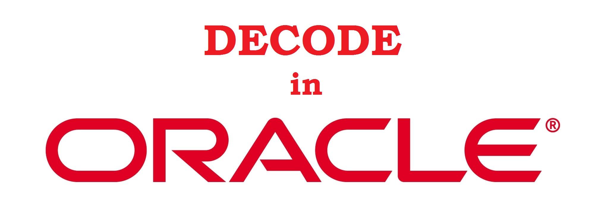 Oracle DECODE Fonksiyonu ve Sağladığı Kolaylıklar, Switch-Case 'den Farkı