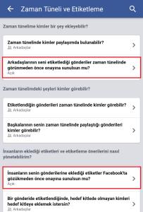 Facebook Mobile Etiketleme Onayı