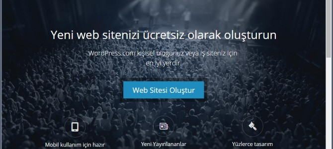 WordPress'ten Ücretsiz Blog Açma