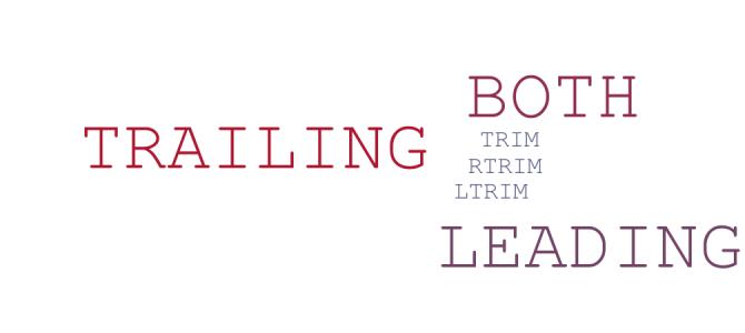 Oracle TRIM, LTRIM, RTRIM Fonksiyonları